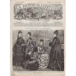 Complete magazine La Mode Illustrée 1874 N°44