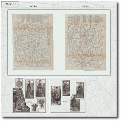 Patrons de La Mode Illustrée 1874 N°1