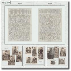 Patrons de La Mode Illustrée 1874 N°51