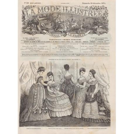 Complete magazine La Mode Illustrée 1874 N°51