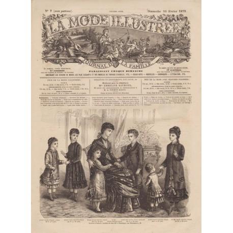 magazine La Mode Illustrée 1879 N°07
