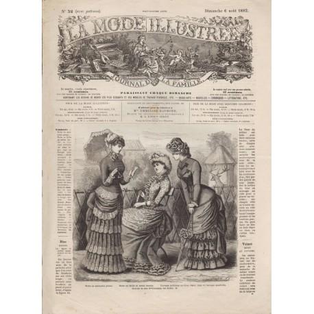 Complete magazine La Mode Illustrée 1882 N°32