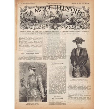 Complete magazine La Mode Illustrée 1891 N°25