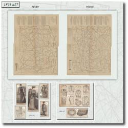 швейные узоры La Mode Illustrée 1891 N°27