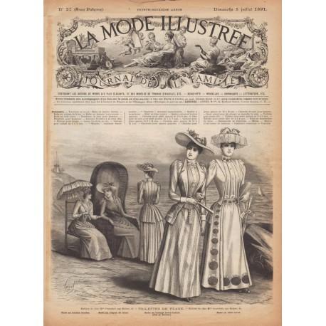 Complete magazine La Mode Illustrée 1891 N°27