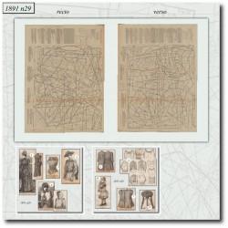 Sewing patterns La Mode Illustrée 1891 N°29
