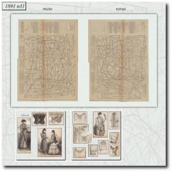 швейные узоры La Mode Illustrée 1891 N°31