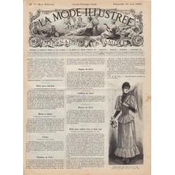 Complete magazine La Mode Illustrée 1891 N°33
