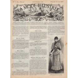 Revue complète de La Mode Illustrée 1891 N°33