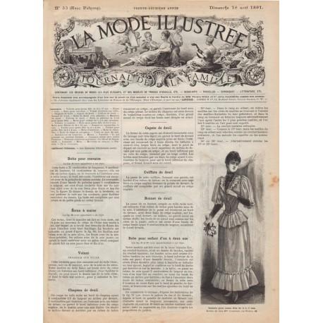 журнал La Mode Illustrée 1891 N°33