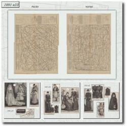 Patrons de La Mode Illustrée 1891 N°33