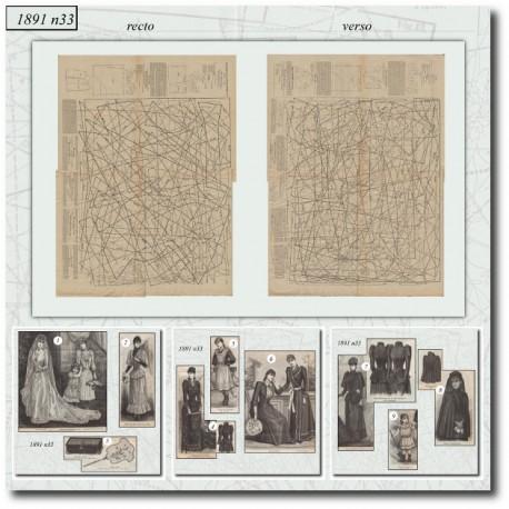 Sewing patterns bride dress 1891 N°33