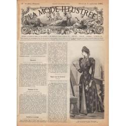 журнал La Mode Illustrée 1891 N°36
