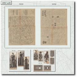 швейные узоры La Mode Illustrée 1891 N°36
