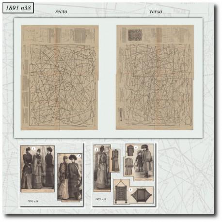 Sewing patterns dress La Mode Illustrée 1891 N°38