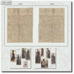 Patrons de La Mode Illustrée 1891 N°40