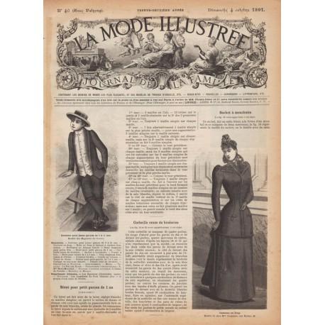 Complete magazine La Mode Illustrée 1891 N°40