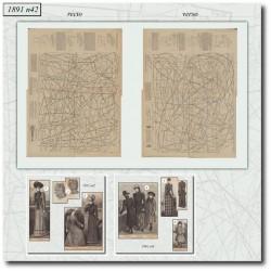 швейные узоры La Mode Illustrée 1891 N°42