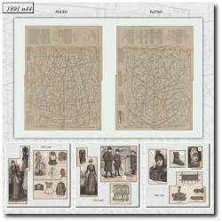 Patrons de La Mode Illustrée 1891 N°44