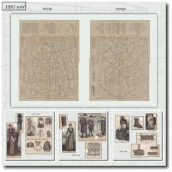 швейные узоры La Mode Illustrée 1891 N°44