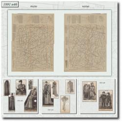 Patrons de La Mode Illustrée 1891 N°46