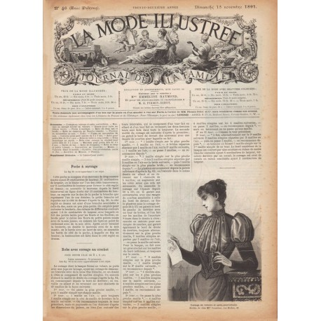 Complete magazine La Mode Illustrée 1891 N°46