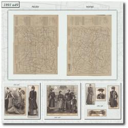 Patrons de La Mode Illustrée 1891 N°49