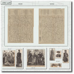 швейные узоры La Mode Illustrée 1891 N°49