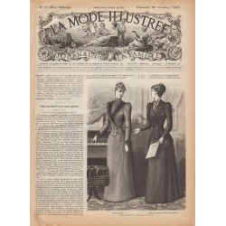 журнал La Mode Illustrée 1891 N°51
