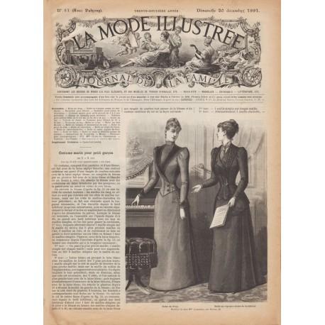 Complete magazine La Mode Illustrée 1891 N°51
