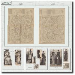 Patrons de La Mode Illustrée 1891 N°51