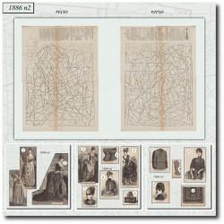 Patrons de La Mode Illustrée 1886 N°2
