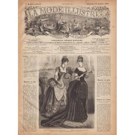 Complete magazine La Mode Illustrée 1886 N°2