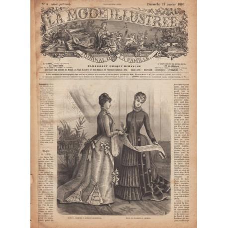 Complete magazine La Mode Illustrée 1886 N°4