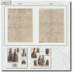 швейные узоры La Mode Illustrée 1886 N°17