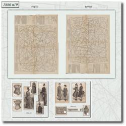 швейные узоры La Mode Illustrée 1886 N°19