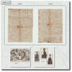 швейные узоры La Mode Illustrée 1886 N°21