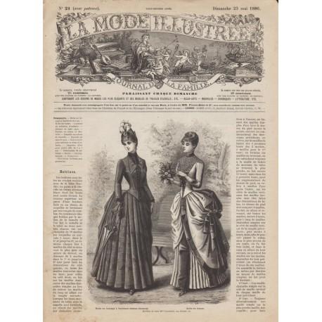 Complete magazine La Mode Illustrée 1886 N°21