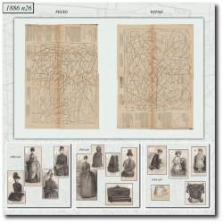швейные узоры La Mode Illustrée 1886 N°26