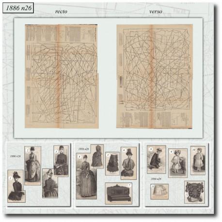 Sewing patterns La Mode Illustrée 1886 N°26