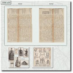 швейные узоры La Mode Illustrée 1886 N°30
