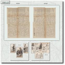 швейные узоры La Mode Illustrée 1886 N°35