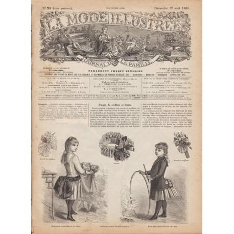 Complete magazine La Mode Illustrée 1886 N°35