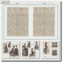 Sewing patterns dress and coat La Mode Illustrée 1886 N°37