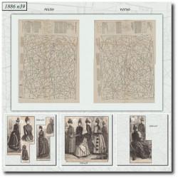 Patrons de La Mode Illustrée 1886 N°39