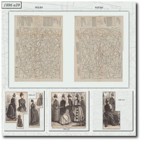Sewing patterns La Mode Illustrée 1886 N°39