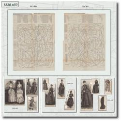 Patrons de La Mode Illustrée 1886 N°50