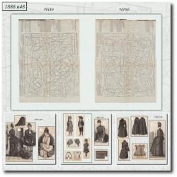 Sewing patterns dinner dress La Mode Illustrée 1886 N°48
