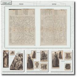 швейные узоры La Mode Illustrée 1886 N°52