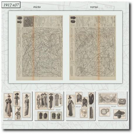 Sewing patterns La Mode Illustrée 1912 N°37